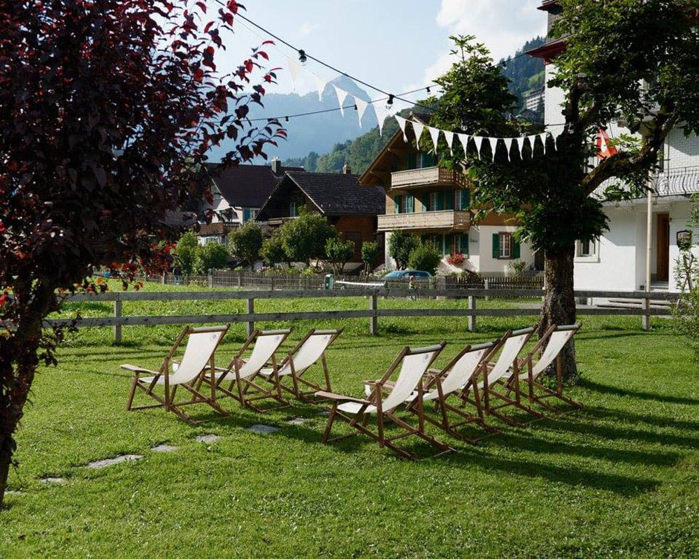 Ski Lodge Engelberg Garden