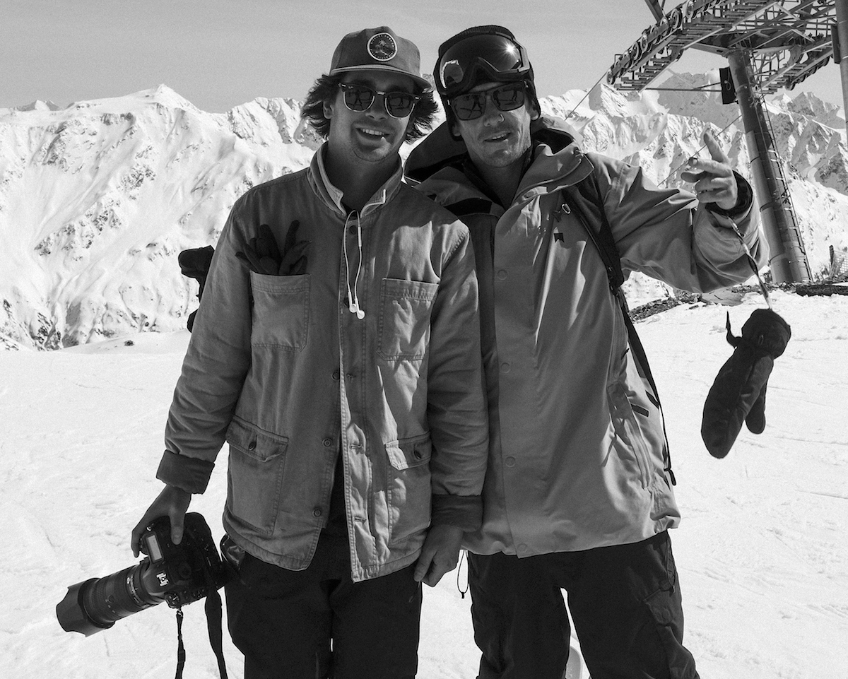 Candide Thovex and Gianmarco Allegrini.