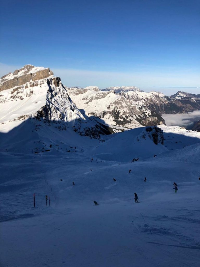 Piste skiing in Engelberg, december 2018!