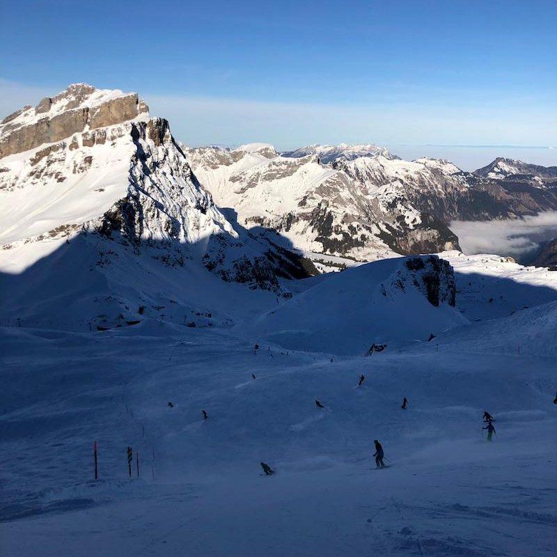 Piste skiing in Engelberg, december 2018!