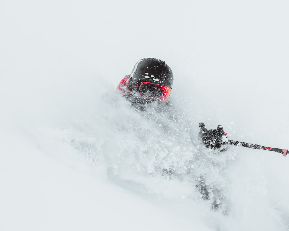 William Larsson goes deep and metal in Engelberg, powder day snowreport. Photo by Adam Klingeteg.