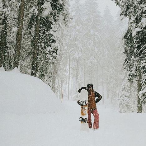 Snowboarding in Engelberg.