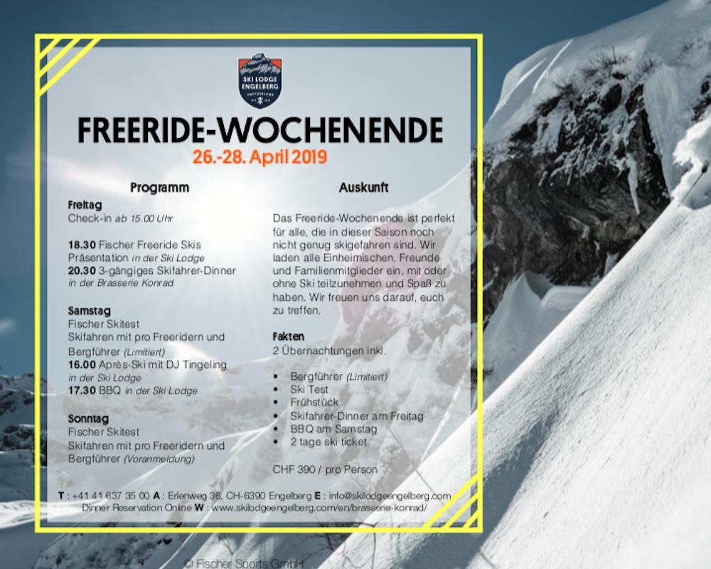 fischer freeride weekend in Engelberg