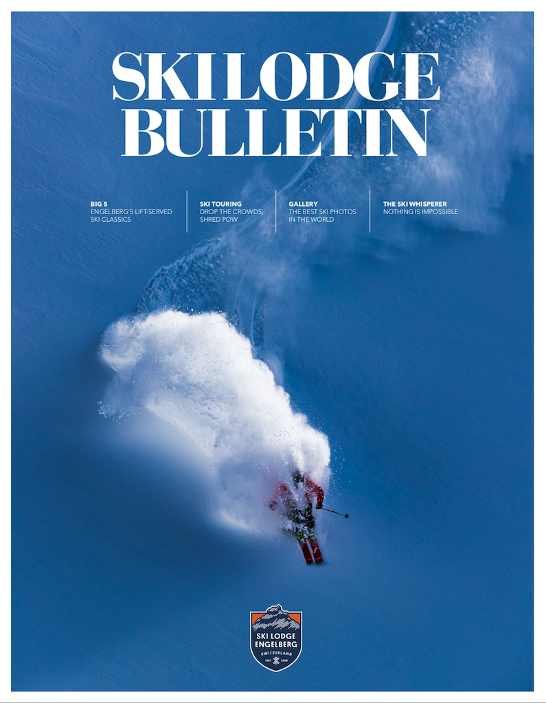 Winter cover of the magazine ski lodge bulletin nr 5.