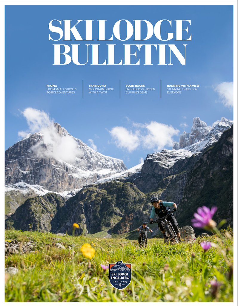Summer cover of the magazine ski lodge bulletin nr 5.