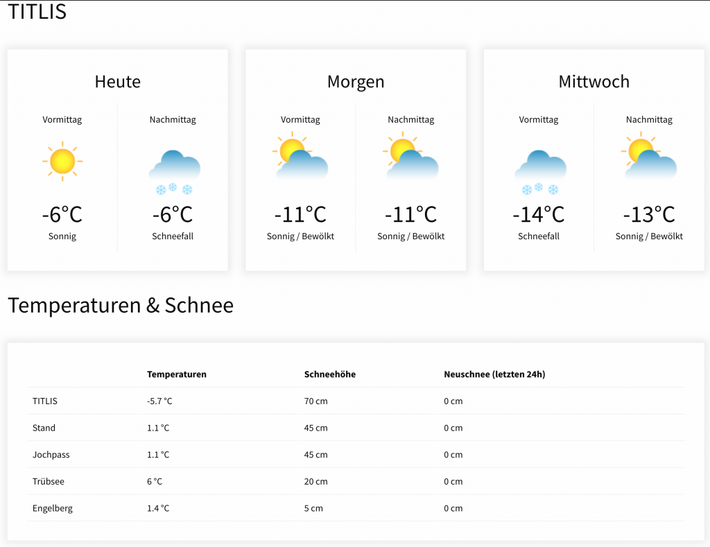 Weather on Titlis!