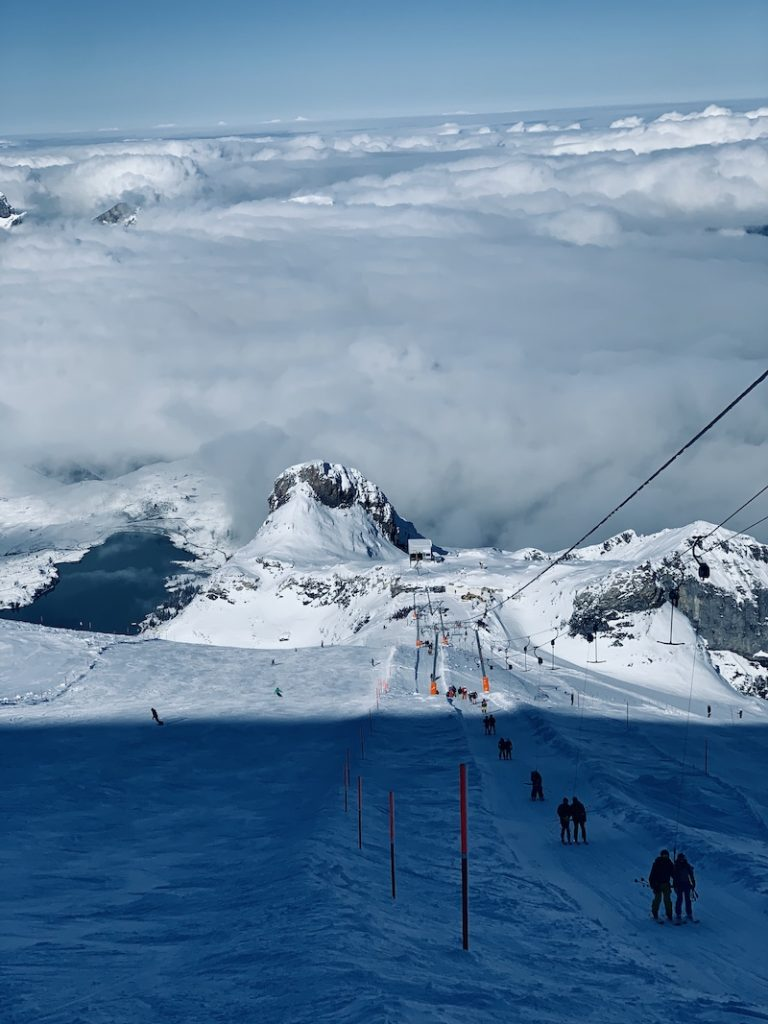 Glacier skiing in switzerland on pre-season!