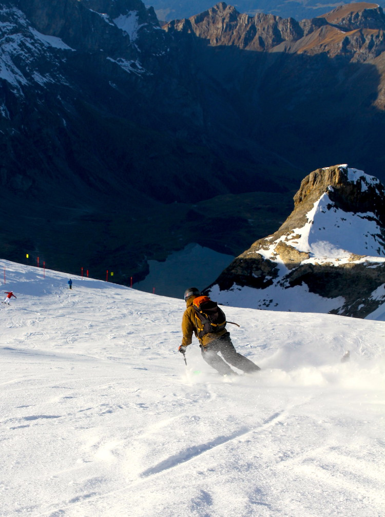 skiing during office hours in engelberg