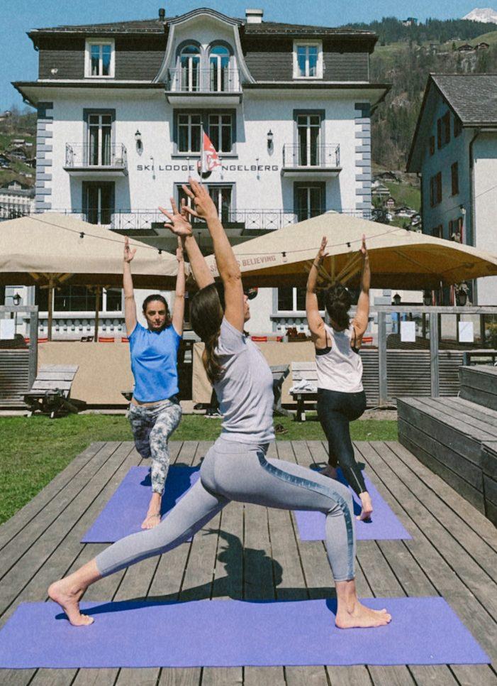yoga camp und pakete, ein yoga retreat mit alpine hiking.